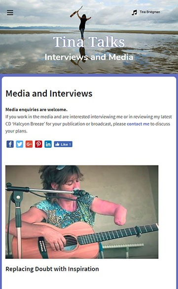 Interviews with Tina Bridgman
